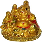Cute little Laughing buddha with child to Badgam