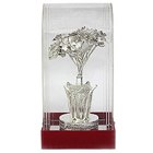 Magnificent Handicraft of Silver Flowers in a Vase to Taran