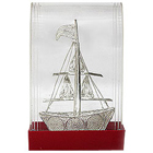 Spectacular Craft of Silver Sail Boat to Taran