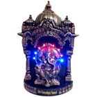 Divine looking led lighted puja darbar with ganeshji to bring happiness and prosperity in you lives to Aligarh