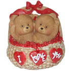 Superb Twin Teddy in a I Love You Basket with Hint of Affection to Aurangabad