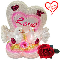 Love bird with heart led lighted showpiece to Udaipur