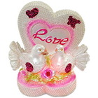 Enchanting Love Heart Themed Love Birds Showpiece with LED Light Effect to Bihar