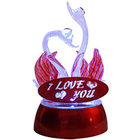 I Love You LED Lighted Swan Couple Showpiece to Mumbai