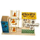 Dynamic Love Wooden Pen Stand with House and Wheel Swing to Addanki