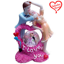 Love is Life Couple with LED Lighted Crystal Globe... to Bhubaneswar