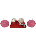 Tantalizing Candle Hamper with Strawberry Designed Gesture to Barrackpore