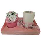 Floral Illusion Candles Hamper to Barauli