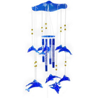 Really Cool Wind Chime with Blue Coloured Dolphins to Banmankhi Bazar