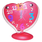 Retro-Style Red Heart Shaped Alarm Clock to Addanki