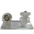 Prosperous Crystal Table Clock Stand with Lord Ganesh Idol to Yamunanagar