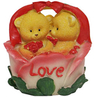 Good Looking Twin Teddy with Roses in a Love Basket to Mohali