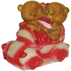 Magical Couple Teddy with Hearts in a Car to Aleppy
