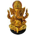 Beatific Lord Ganesha Gold Plated Murti to Alagappapuram