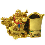 Impressive Laughing Buddha Pen Stand to Chandigarh