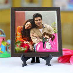 Superb Personalized Photo Square Tile to Bellary