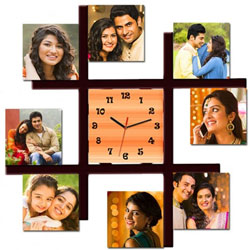 Amazing Personalized Photo Wall Clock to Agroli