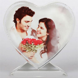 Best Heart Shape Personalized Glass Table Top to Achalpur