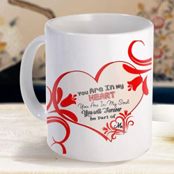 Exclusive White Coffee Mug with a Personalized Message to Amreli