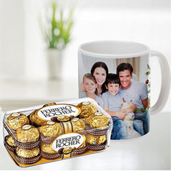 Best Personalized Coffee Mug with Ferrero Rocher Chocolates to Agroli
