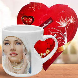 Elegant Personalized Coffee Mug with Homemade Chocolate to Bardez