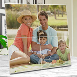 Standard Personalized Photo 4 Tile Mural Frame to Barh