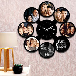 Special Personalized Photo Wall Clock to Barh