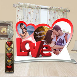 Perfect Hearty Love Personalized Photo Stand to Adugodi