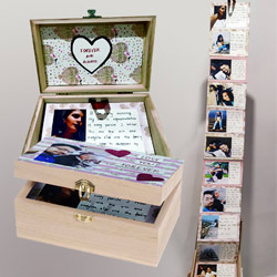 Exclusive Infinity Box of Personalized Message n Photos to Adipur