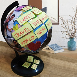 Elegant Personalized Globe to Anjar