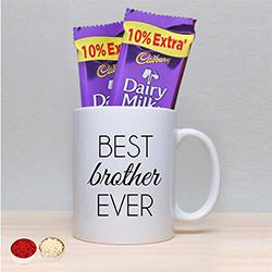 Coffee Mug with Twin Cadbury to Aligarh