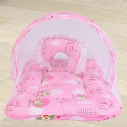 Exclusive Pink Mattress with Mosquito Net to Aligarh