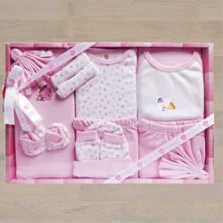 Marvelous Gift Set of Cotton Clothes for New Born Girl	 to Akurdi