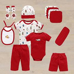 Wonderful Gift Set of Cotton Clothes for Babies	 to Aligarh