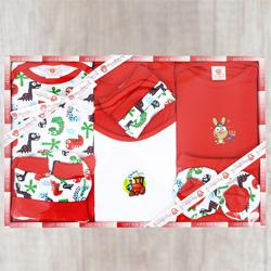 Attractive Babys Gift Set of Cotton Clothes to Alapuzha