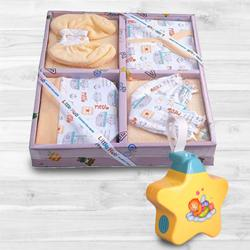 Exclusive Baby Sleep Projector Toy with Clothing Gift Set<br> to Ahmadnagar