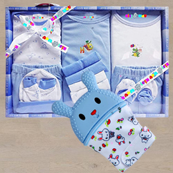 Marvelous Wishkey Silicone Teething Mitten N Cotton Clothes Set to Ahmedabad