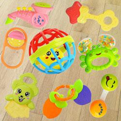 Colorful Rattles and Teethers Toys Set for Babies to Abohar