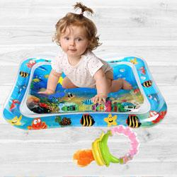 Exclusive Inflatable Water Tummy Time Playmat with Food Nibbler to Akurdi