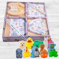 Wonderful Clothing Set N Animal Shape Bath Toy Set to Aligarh
