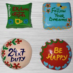 Eye-Catching 4 pcs Handmade Fridge Magnets to Adilabad