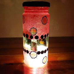 Graceful Personalized Photo LED Lamp Bottle to Akola