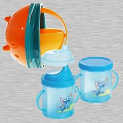 Marvelous Non Spill Feeding Gyro Bowl and Sipper Cup Combo to Agartala