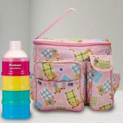 Marvelous Milk Powder Container N Compartment Baby Bag to Agroli