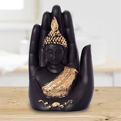 Auspicious Golden Handcrafted Palm Buddha to Aizwal