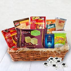 Enjoy your weekend with Ready - To - Eat Veg Dinner Hamper to Agra