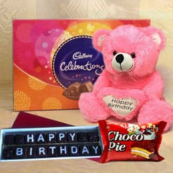 Delicious Chocolates Gift Hamper for Happy Birthday to Adugodi