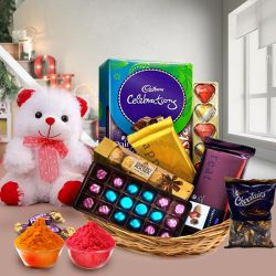 Gift Hamper of Chocolates and Teddy with Bliss to Baghalkot