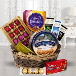 Festival Basket Full of Chocolates to Bellary