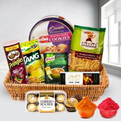 Lovely Heart Healthy Snacks Gift Basket to Baharampur